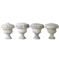 Set of Four 18th Century Reclaimed Stone Statues