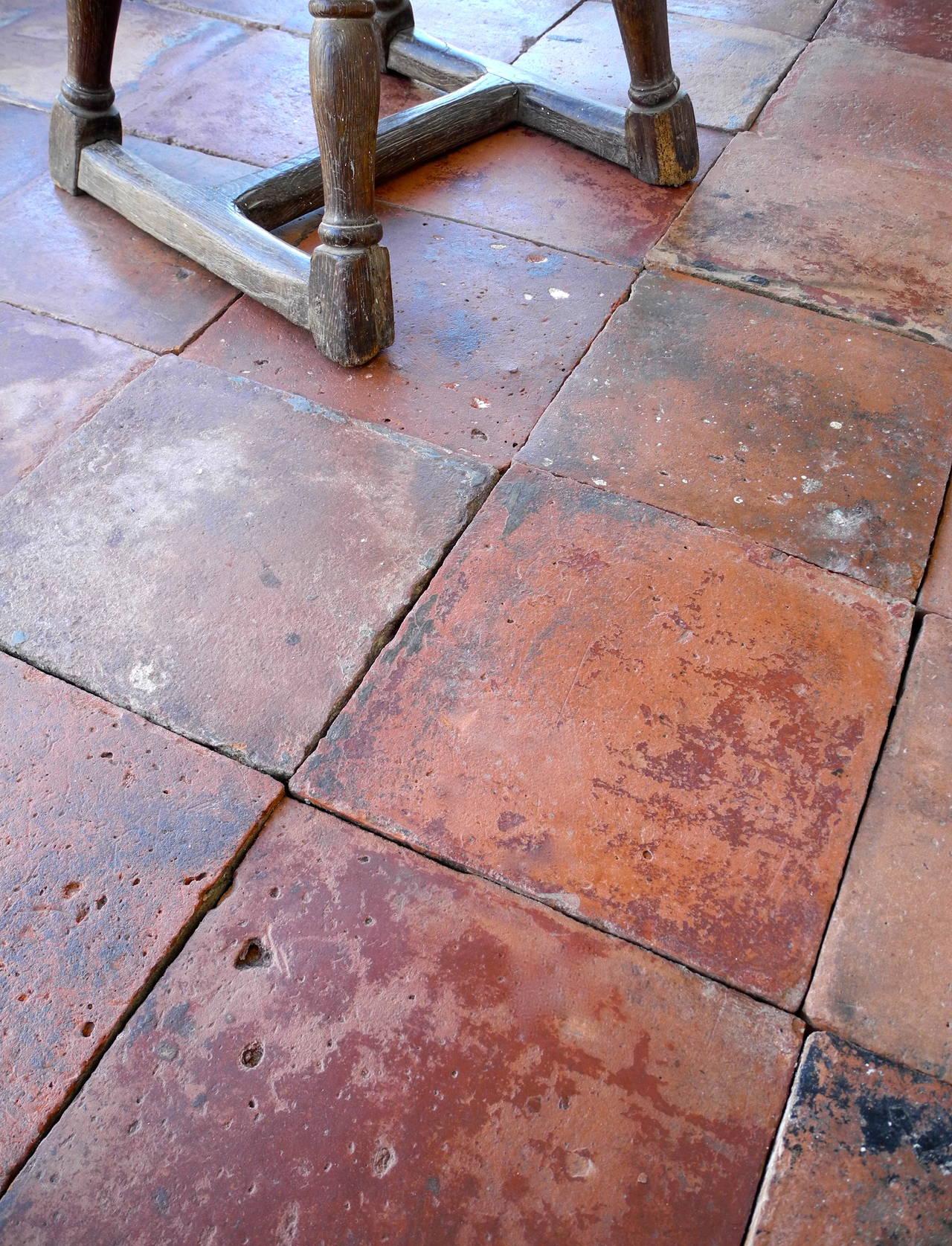 Reclaimed spanish terracotta tiles at 1stdibs for Floor in french