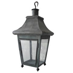 Antique 19th Century French Tole Lantern