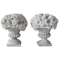 Pair of Antique 19th Century Stone Statues