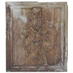 18th c. Carved Plaque