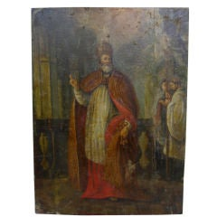 17th Century French Painting of St. Peter