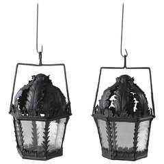 Pair of Antique 19th Century Processional Lanterns