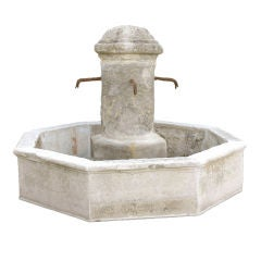 18th c. Provencal Fountain Center with 19th c. Basin