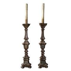 Pair Italian Louis XIV Altar Candlesticks, circa 1700