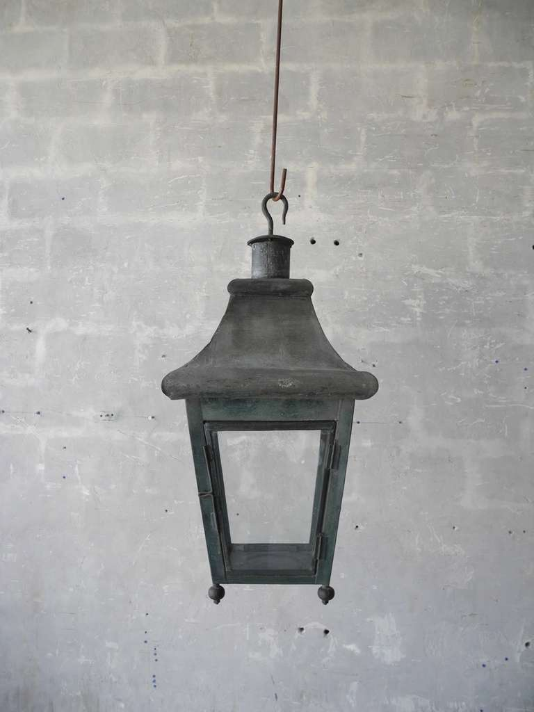 Antique 19th Century French Tole Lantern 3