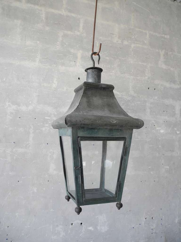 Antique 19th Century French Tole Lantern 2
