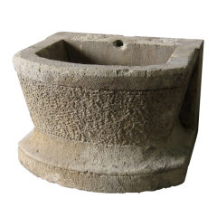 19th c. Stone Basin from a Garden in France