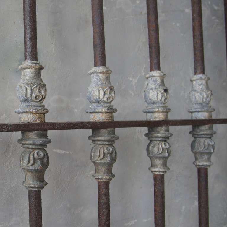 Antique pair of 18th century iron window grilles from uzes for 18th century window