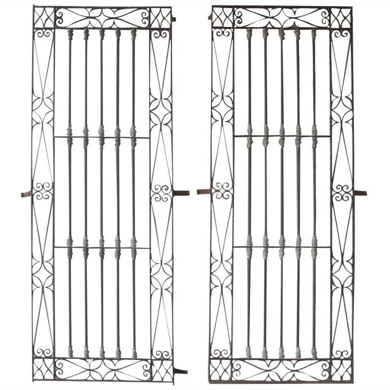 Antique Pair of 18th Century Iron Window Grilles from Uzes ...