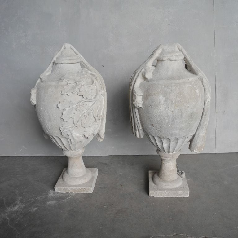 Pair of 18th Century French Stone Finials 2