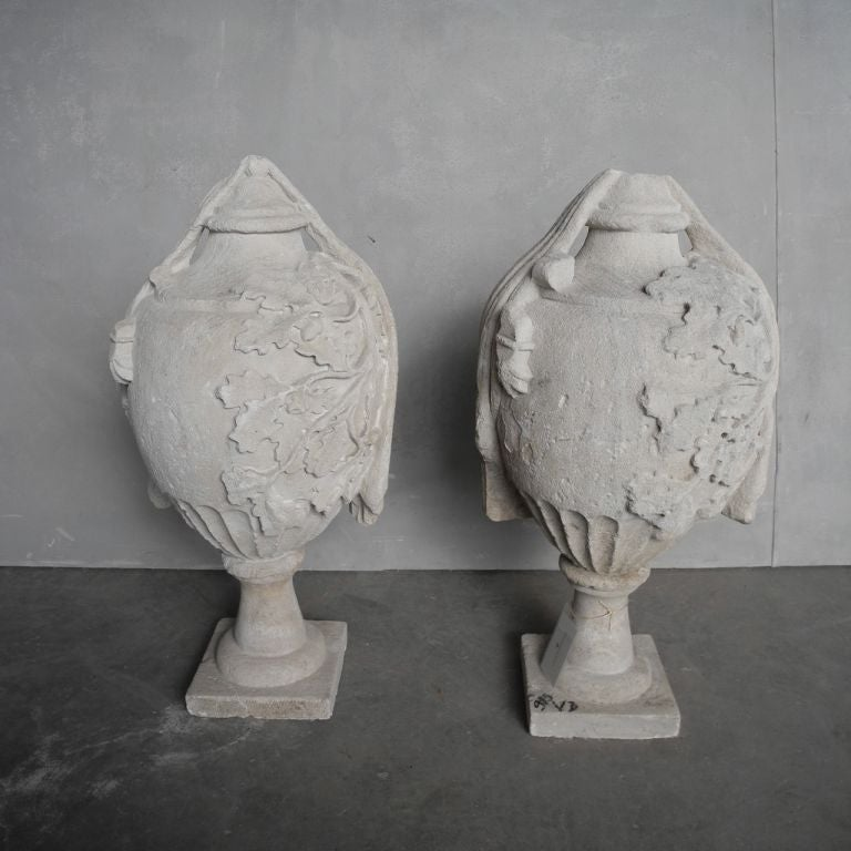 Pair of 18th Century French Stone Finials 6