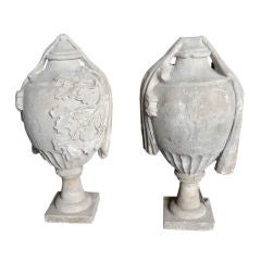 Pair of 18th Century French Stone Finials
