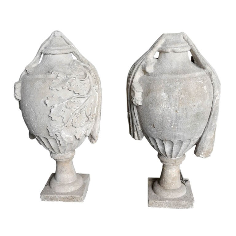 Pair of 18th Century French Stone Finials 1