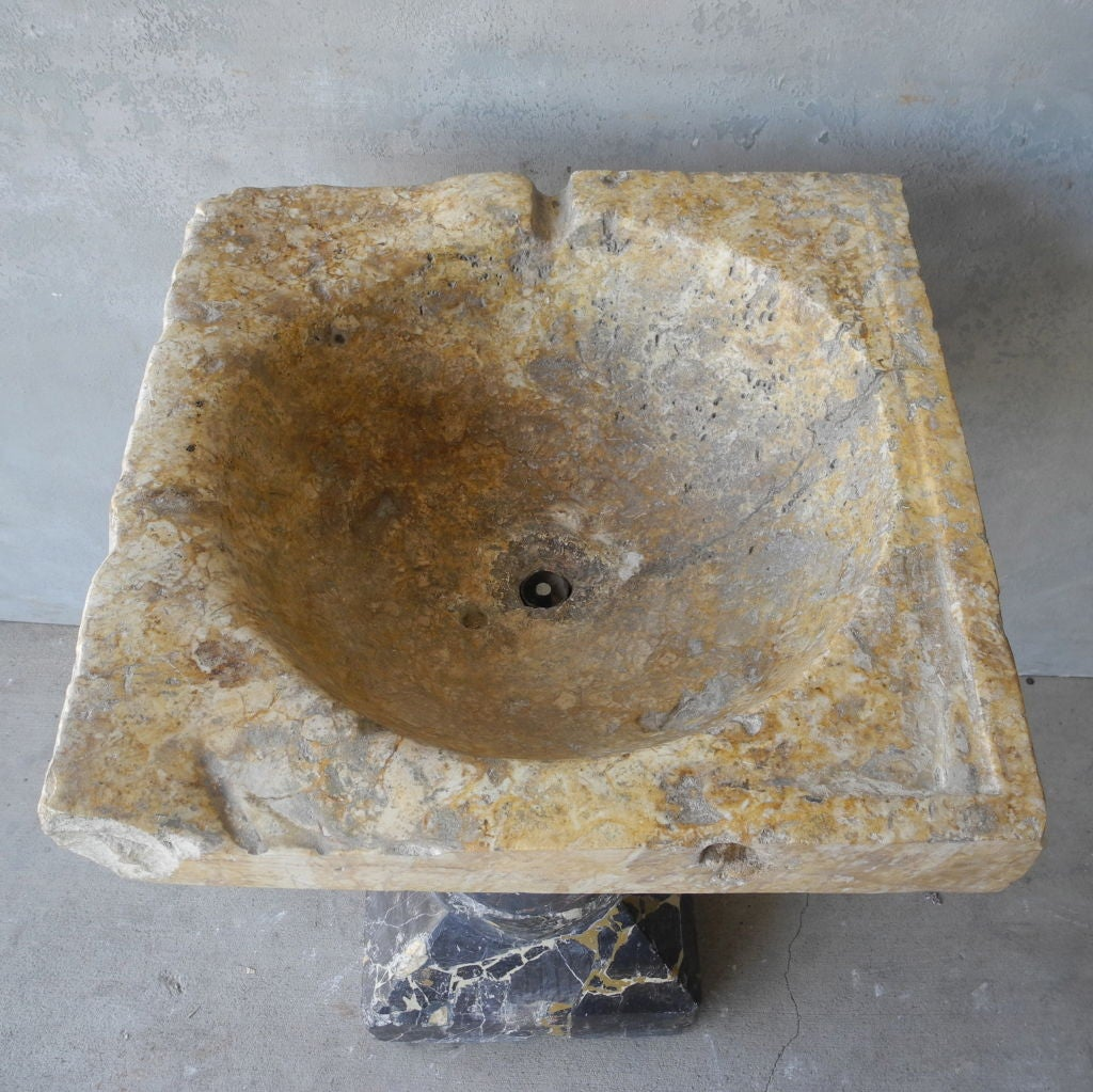 Antique 16th Century French Standing Stone Sink