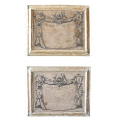 Pair Framed Religious Engravings, c. 1700