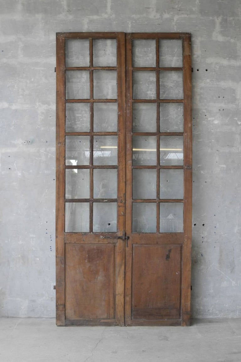 Pair Of 18th Century Walnut French Doors At 1stdibs
