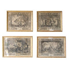 Set of Four 18th c. Engravings in Original Frames