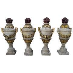 Antique Italian 18th Century Wooden Pots