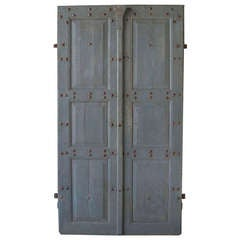 Pair of Antique 18th Century Doors with Nailhead Detailing