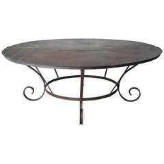 Large antique iron table from 18th century France