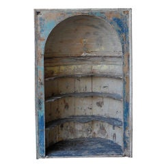 Antique 18th Century Wooden Niche with Shelves from England