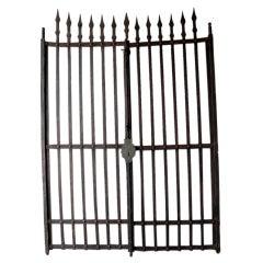 Pair of Grand Antique 17th Century Iron Gates