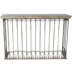 18th c. Iron Balcony Console with Reclaimed Stone Top