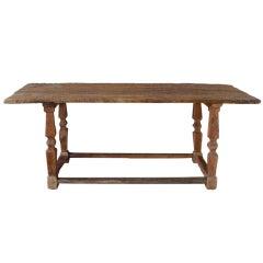 Antique Renaissance Wooden Console Table, Circa 1500