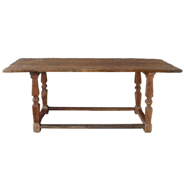 Antique renaissance wooden console table circa for