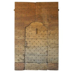 Reclaimed 17th Century Entrance Door with Nailhead Details from Arezzo, Italy
