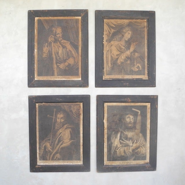 Antique Italian Engravings of Saints, circa 1800 2