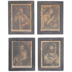 Antique Italian Engravings of Saints, circa 1800