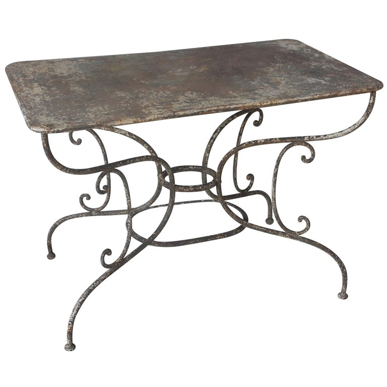 Antique Parisian Metal Table At 1stdibs
