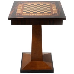 19th century game table with chess top