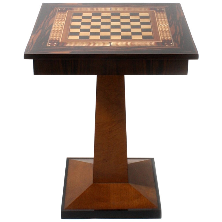 19th Century Game Table With Chess Top For Sale