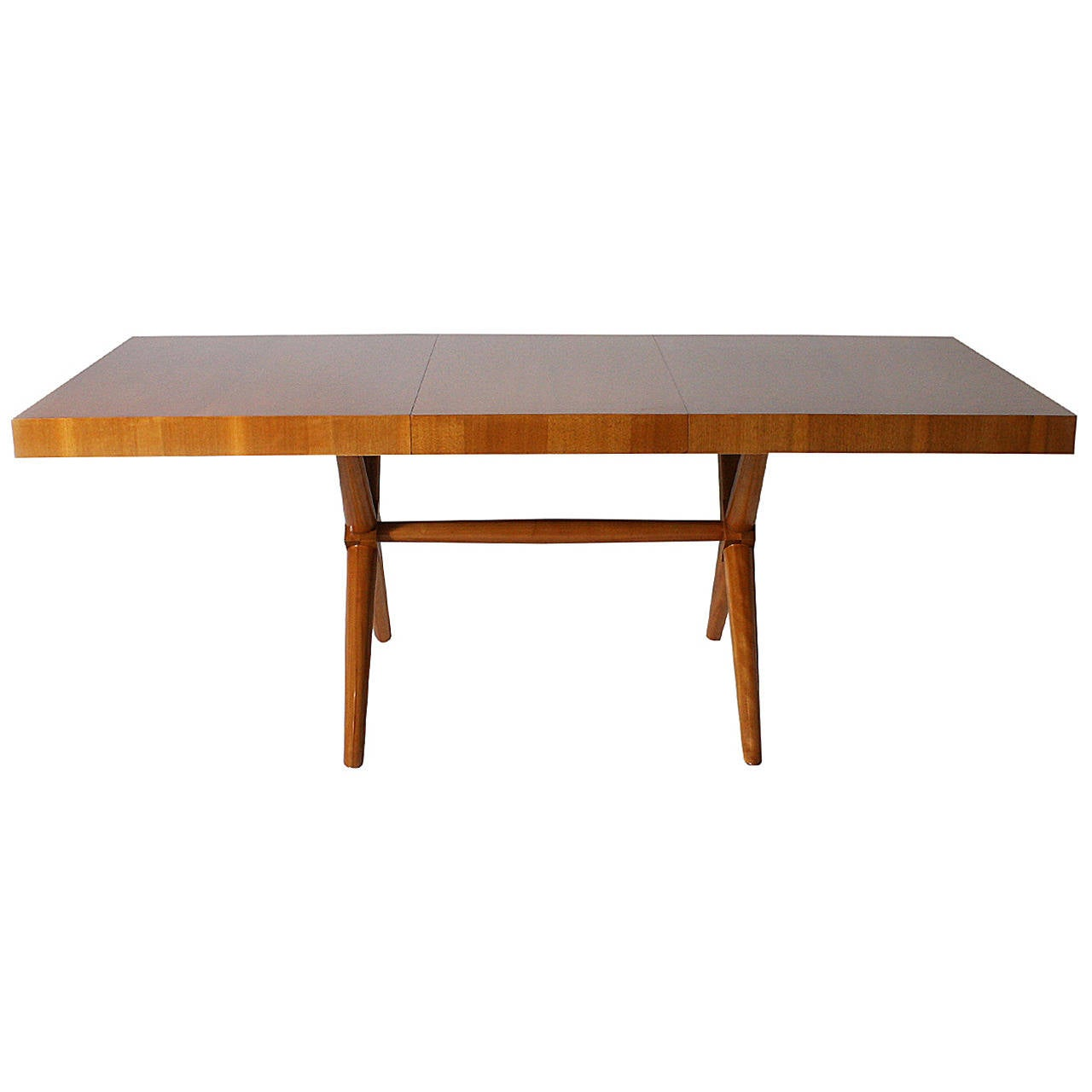 t h robsjohn gibbings dining table with leaf extension