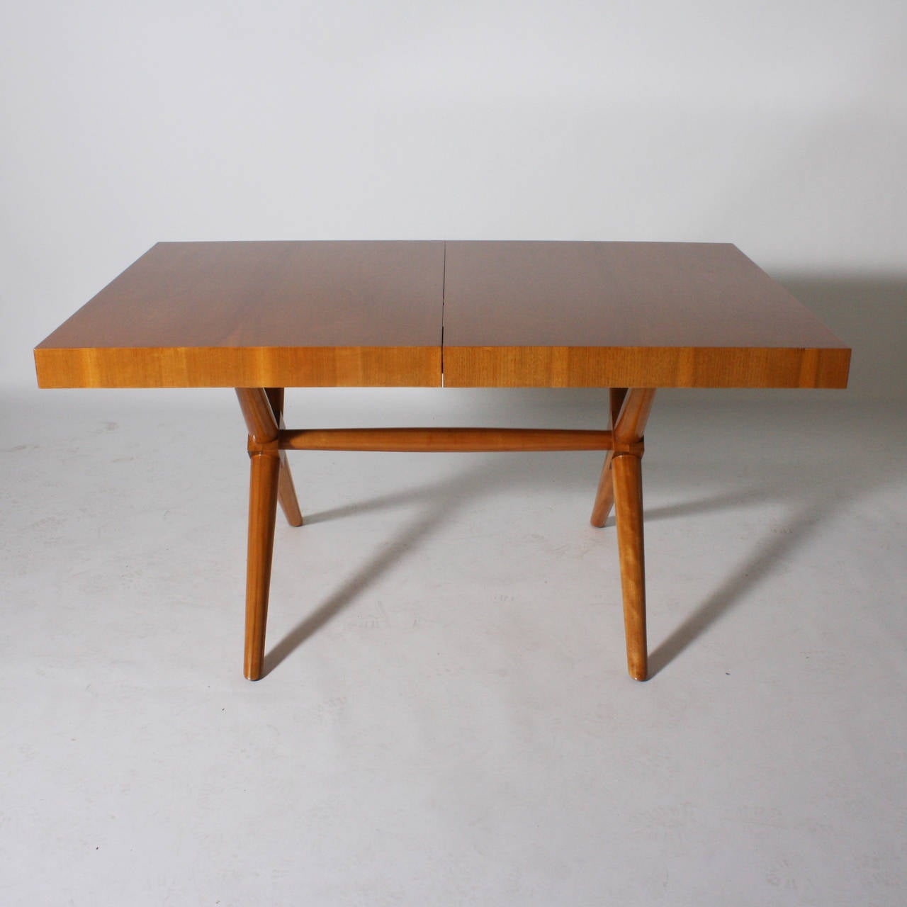 TH Robsjohn Gibbings Dining Table With Leaf Extension