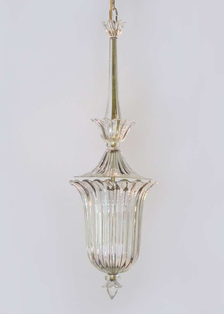 Clear glass bowl chandelier, c. 1900 2