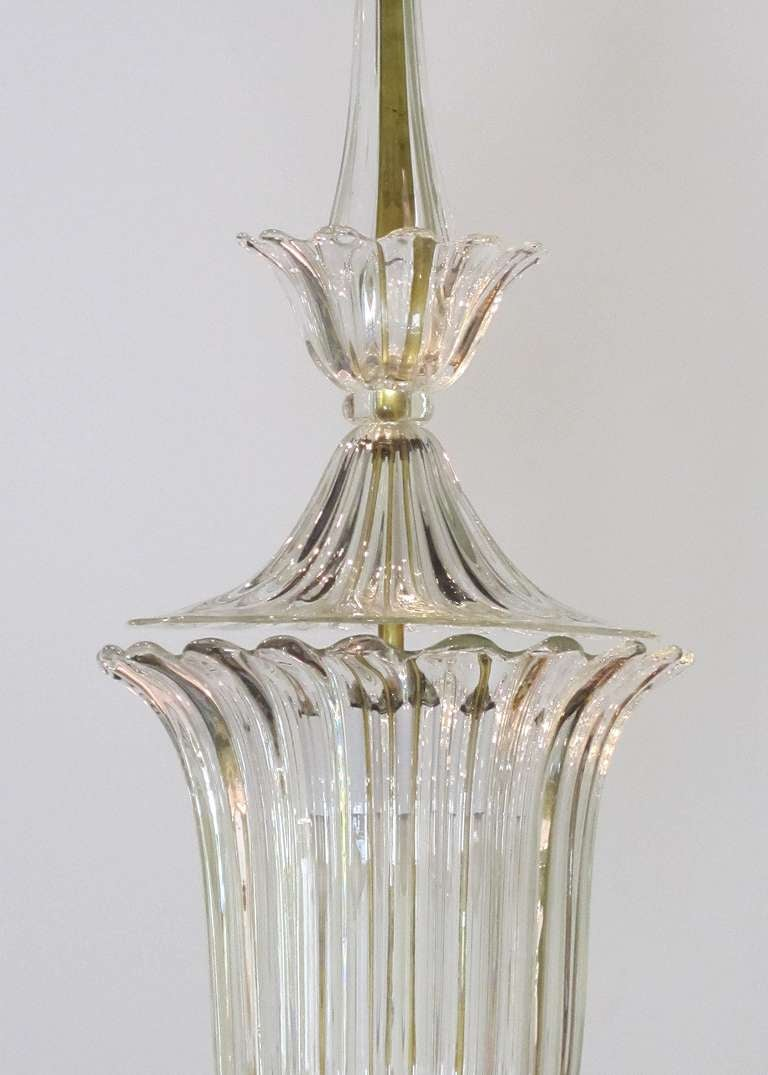 Clear glass bowl chandelier, c. 1900 3