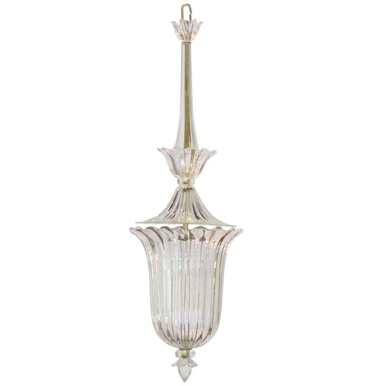 Clear glass bowl chandelier, c. 1900 1