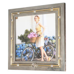 Gucci Silver and Gold Plated Square Picture Frame, circa 1950