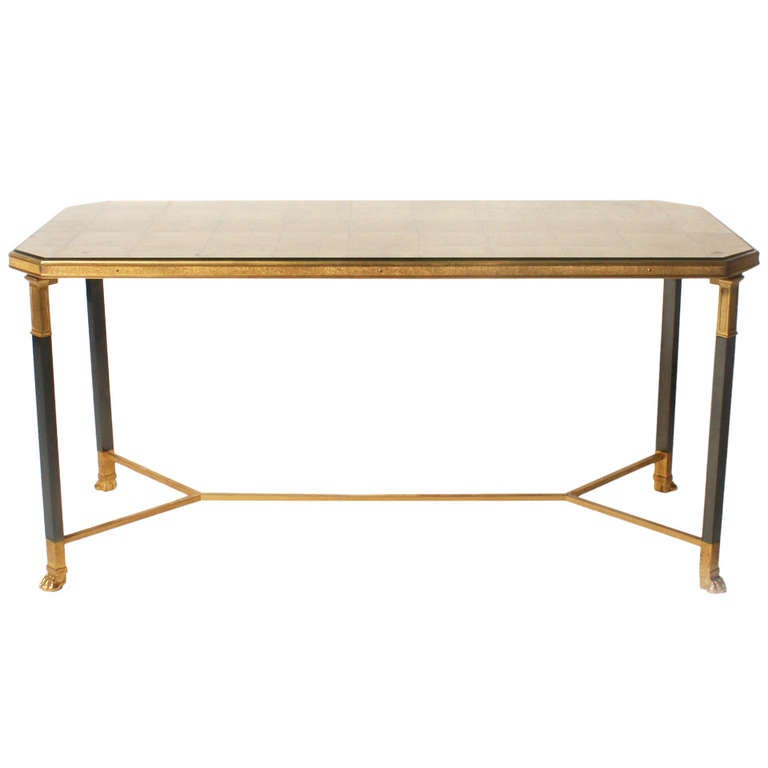 Gold Leaf Eglomise Top Coffee Table C 1940 At 1stdibs