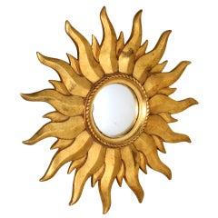 French gold soleil mirror, c.1940