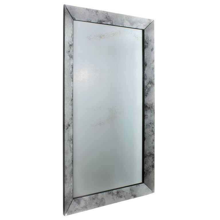 french mirror framed mirror with marbleized frame