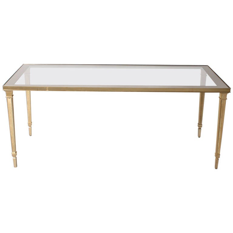 French Bronze And Glass Top Coffee Table At 1stdibs