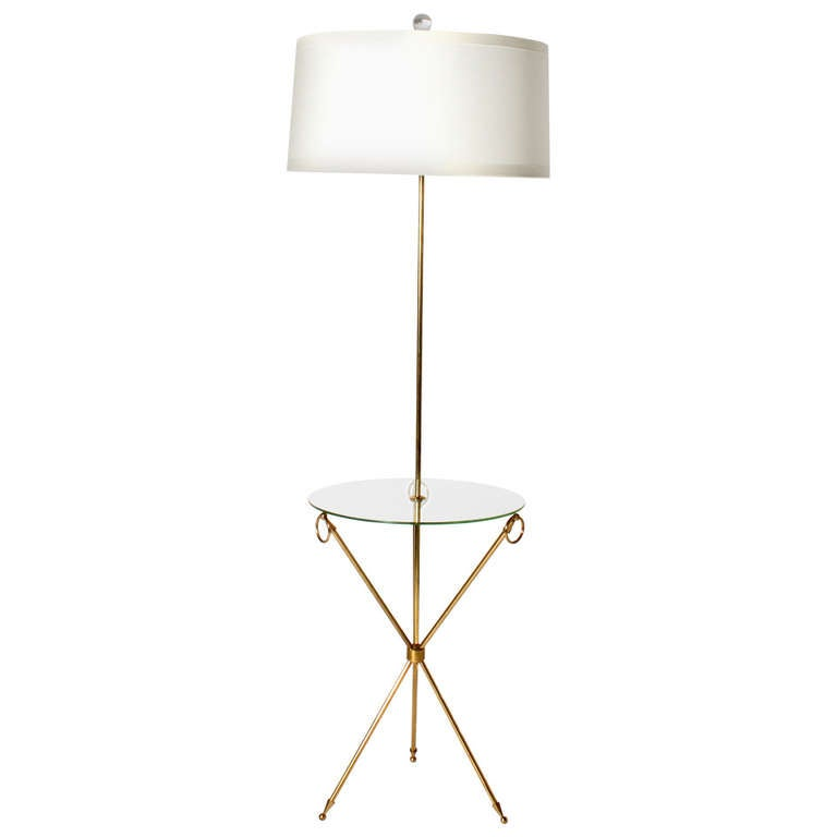 bronze and glass tripod table lamp  c  1940 at 1stdibs
