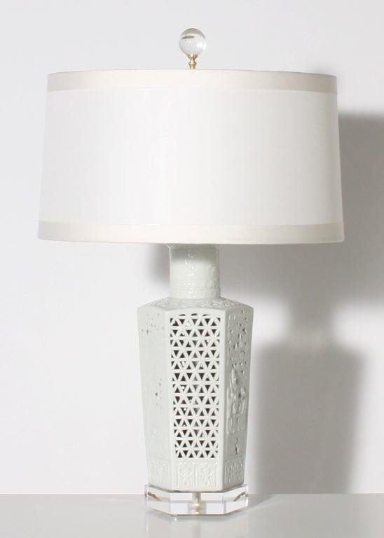 Pair of blanc de chine lamps, c. 1960 2