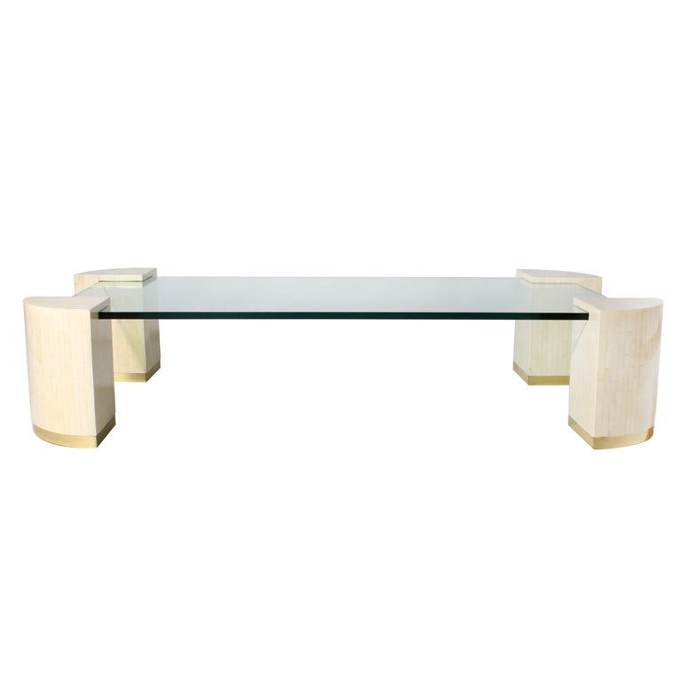 Glass Coffee Table With Bone Legs At 1stdibs