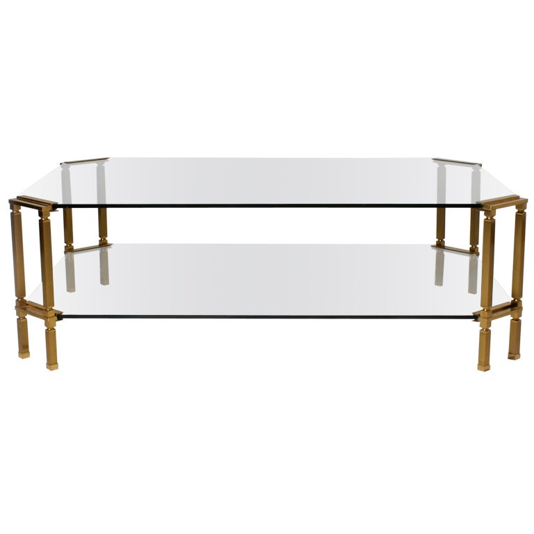 Bronze And Glass Maison Jansen Coffee Table At 1stdibs